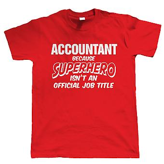 Accountant Superhero, Mens Funny T-Shirt