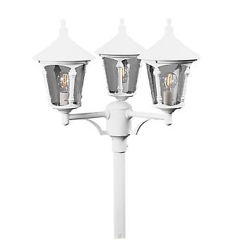 Konstsmide Virgo White Driveway 3 Lantern Outdoor Pole Light
