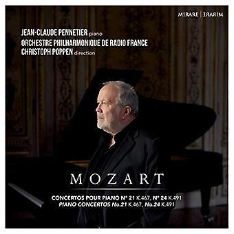 Mozart / Pennetier, Jean-Claude - Piano Concertos nr. 21 & 24 [CD] USA import