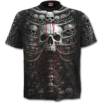 Spiral - DEATH RIBS - Allover Printed Short Sleeve T-Shirt, Black