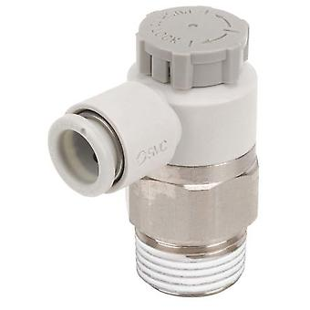SMC As Series Flow Controller, R 1/8 Male Inlet Port X 6Mm Tube Outlet Port