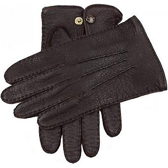 Dents Clifton Unlined Peccary Leather Gloves - Bark