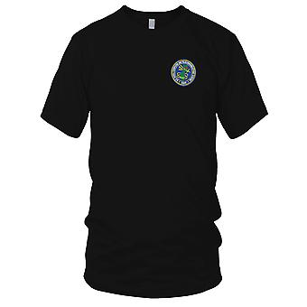 US Navy Naval Computer and Telecommunications Station Guam Embroidered Patch - Ladies T Shirt
