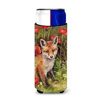 Fox Cub by Debbie Cook Ultra Beverage Insulators for slim cans