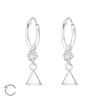 Triangle crystal from Swarovski® - 925 Sterling Silver Earrings