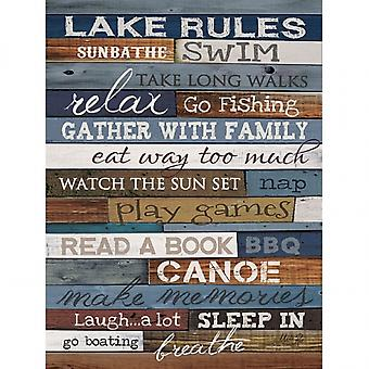 Lake Rules Poster Print by Marla Rae (18 x 24)