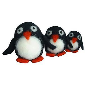 Felta Pets Trio of Penguins Felting Kit 8 yrs+ by Krasnaya