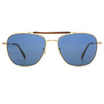 Paul Smith Roark Sunglasses In Solf Gold Blue