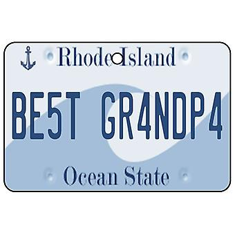 Rhode Island - Best Grandpa License Plate Car Air Freshener