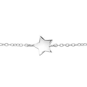 Star - 925 Sterling sølv kjede armbånd - W22620X