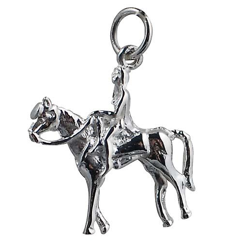 Silver 15x20mm Lady Godiva Pendant or Charm