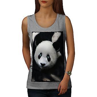 Giant Panda Bear femmes GreyTank Top   Wellcoda