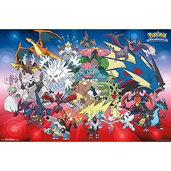 Pokemon - Mega evoluzioni Poster Print