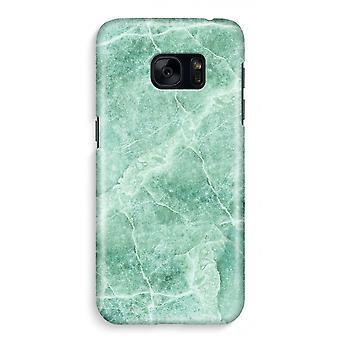 Samsung S7 Full ut fallet - grön marmor