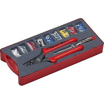 Squeezer set 152-piece Ferrules 0.5 up to 16 mm² Incl. ferrule set, Incl. voltage tester NWS 143-BIS