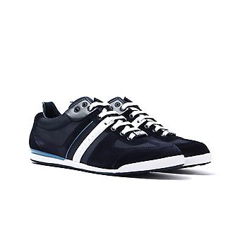 BOSS Open Dark Blue Akeen Trainers