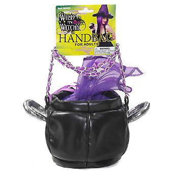 Cauldron Bag Witch Witchy Purple Halloween Women Costume Handbag