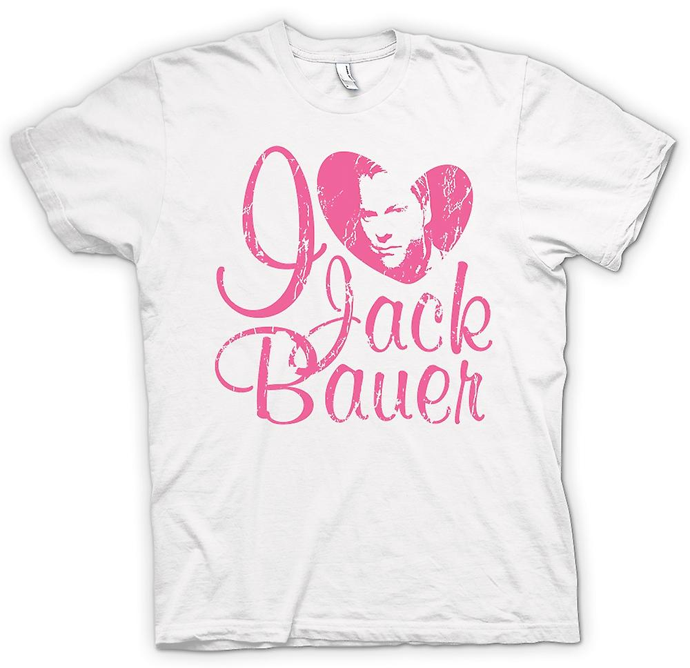 Womens T-shirt - Ik hou van Jack Bauer 24 - Keifer - Tv - film