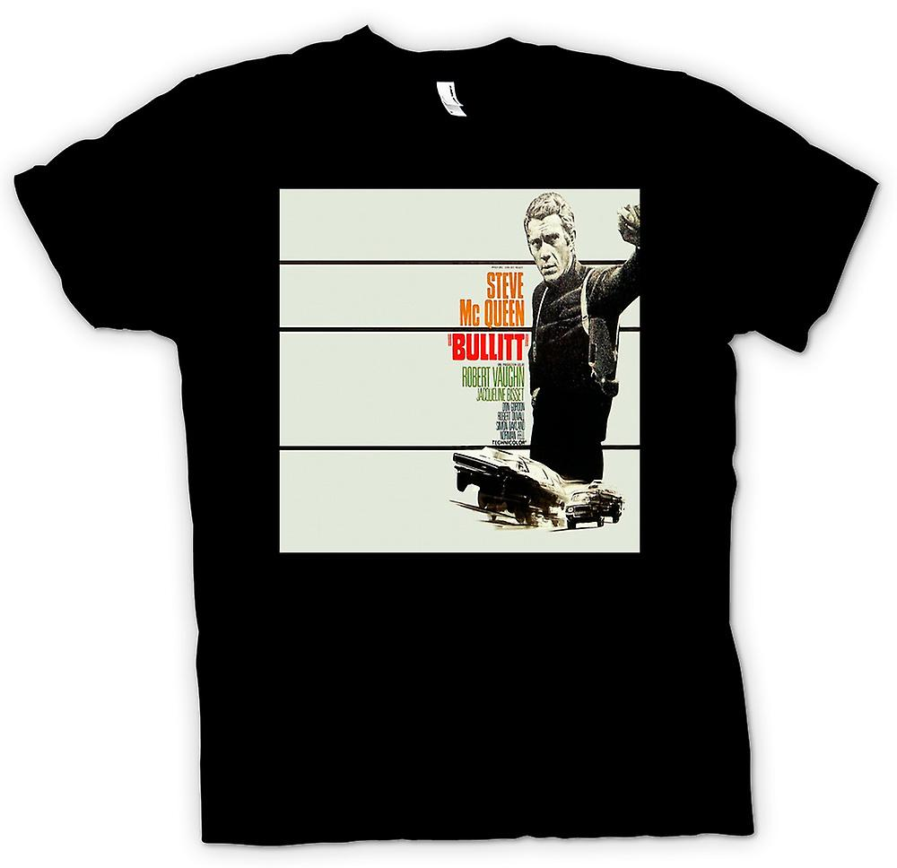 Barn T-shirt - Steve Mcqueen - Bullit - affisch