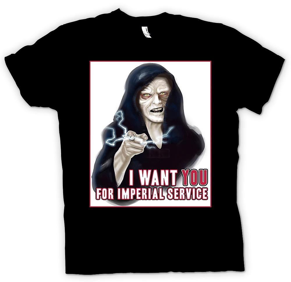 Mens T-shirt - Star Wars Palpatine - I Want You