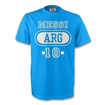 Лионель Месси Аргентина Arg футболку (голубой)