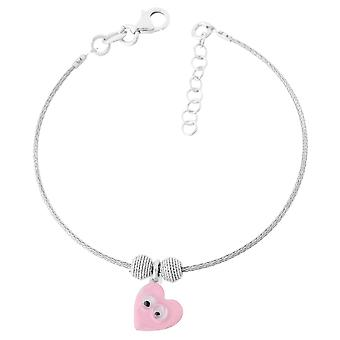Orphelia Silver 925 Kids ZA-7141 roze hart Bangle