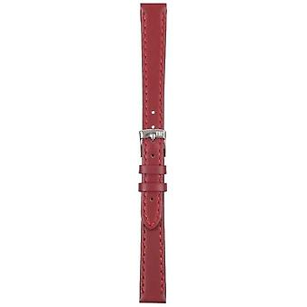 Morellato Strap Only - Sprint Napa Leather Red Berry 12mm A01X2619875081CR12 Watch