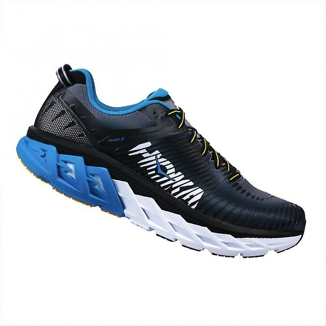 Arahi 2 Road Running Black/Charcoal Shoes WIDE FITTING Mens Black/Charcoal Running Grey 46b0d3
