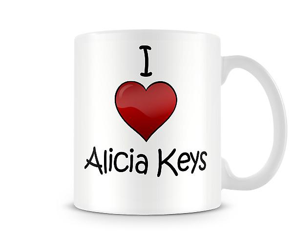 I Love Alicia Keys Printed Mug