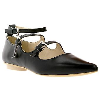 Heine real leather Mary Jane shoe with ankle strap black