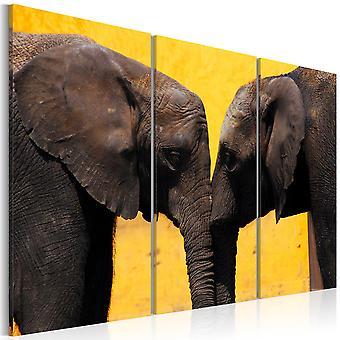 Canvas Print - Elephant kiss