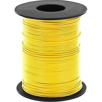 Strand 1 x 0.14 mm² Yellow BELI-BECO L118/100 ge 100 m