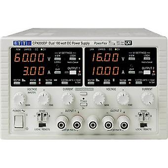 Aim TTi CPX200DP Bench PSU (adjustable voltage) 0 - 60 Vdc 0 - 10 A 360 W GPIB, LAN, LXI, RS232, USB No. of outputs 2 x