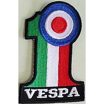 Vespa # 1 And Target Sew-On Embroidered Patch