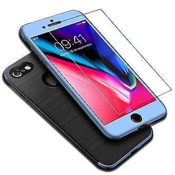 Apple iPhone 6 / 6s 2 in 1 Handyhülle 360 Grad Full Cover Case Blau
