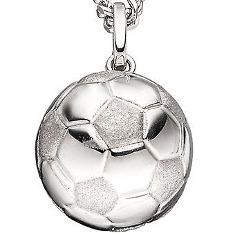 Kinderschmuck Anhänger Fußball 925 Silber rhodiniert mattiert Kinderanhänger