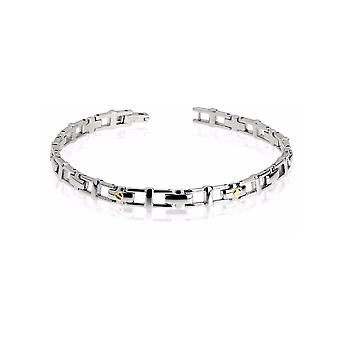 ZOPPINI Stainless Steel 18ct Gold Bracelet