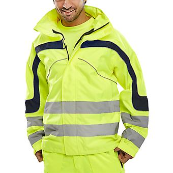 B-Seen Eton Hi Vis Jacket Waterproof & Breathable. Yellow - Et45