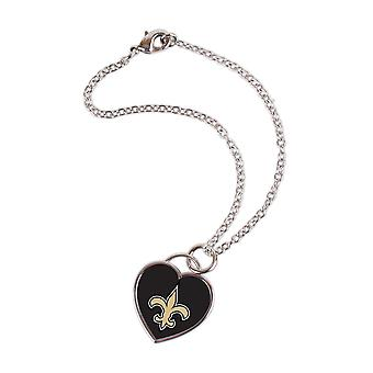 Wincraft ladies 3D heart bracelet - NFL New Orleans Saints
