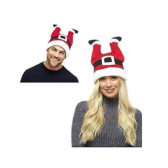 RJM Unisex Novelty Christmas Santa Hat - Father Christmas Legs Stuck in Chimney