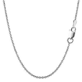 純銀製ロジウム メッキ ケーブル チェーン ネックレス、1, 5 mm