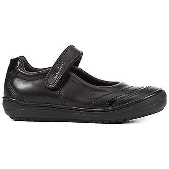 Geox meninas Hadriel J847VC escola sapatos preto