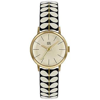 Orla Kiely | Ladies Patricia | Black And Cream Stem Print Strap | OK2266 Watch