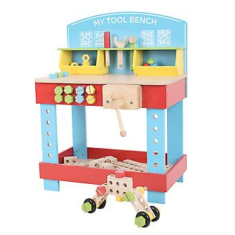 Bigjigs Toys My First Wooden Tool Bench with Tools Construction Building