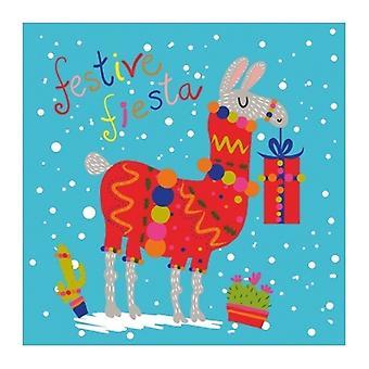 Artfile Frank Charity Tropical Llama Christmas Cards