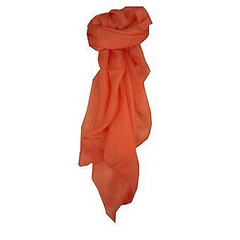 Maulbeer Seide Hand gefärbt Quadrat Schal Lachs aus Pashmina & Seide