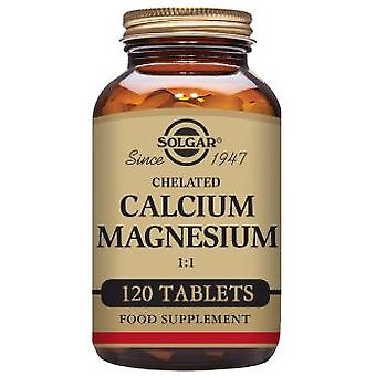 Solgar Chelated Calcium Magnesium 1:1 Tablets - 120 tablets
