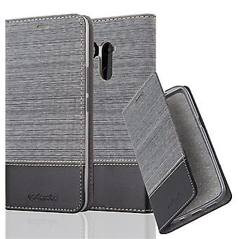 Cadorabo case for HTC U11 PLUS - mobile case with stand function and compartment in the fabric design - case cover sleeve case bag book