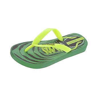 Ipanema Laces Kids Flip Flops - Sandals - Green Yellow