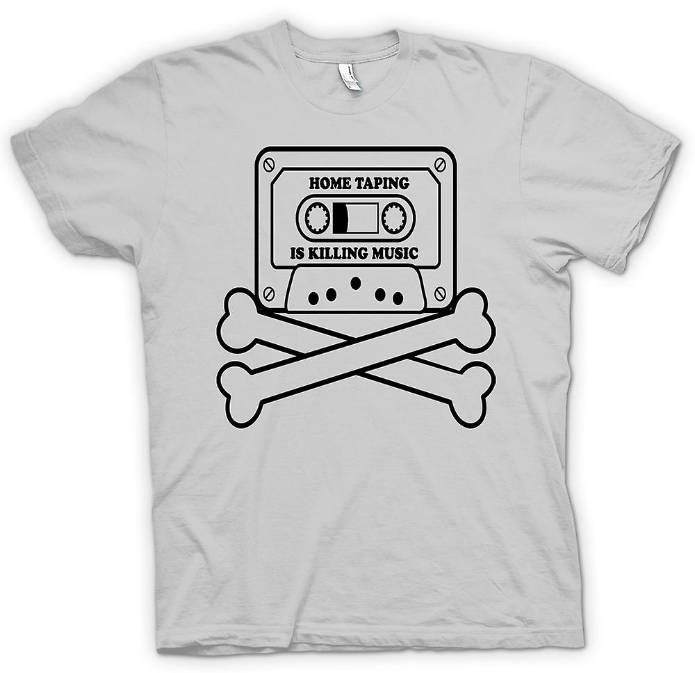 Mens T-shirt - Home Taping Piracy - Funny